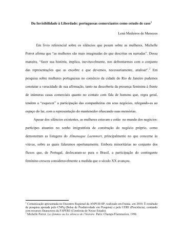 Da Invisibilidade à Liberdade: portuguesas ... - labimi - UERJ