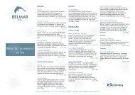 Tratamentos do Belmar Spa - Oceanico Direct