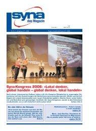 Syna-Kongress 2006: «Lokal denken, global handeln – global ...