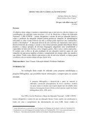 Artes Visuais na educação infantil - Faculdade Católica de Uberlândia