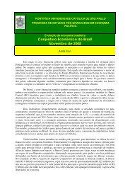 Conjuntura Econômica do Brasil Novembro de 2008 - Econolatin