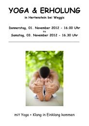 Samstag, 03. November 2012 - Yoga Center Luzern