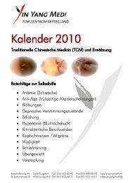 Kalender 2010 Kalender 2010 - Yin Yang Medi