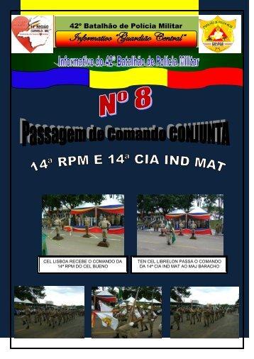 informativo guardião central n° 8 - Polícia Militar de Minas Gerais
