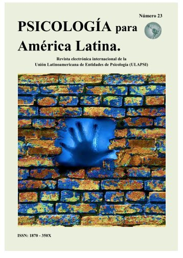 PSICOLOGÍA para América Latina. - ULAPSI