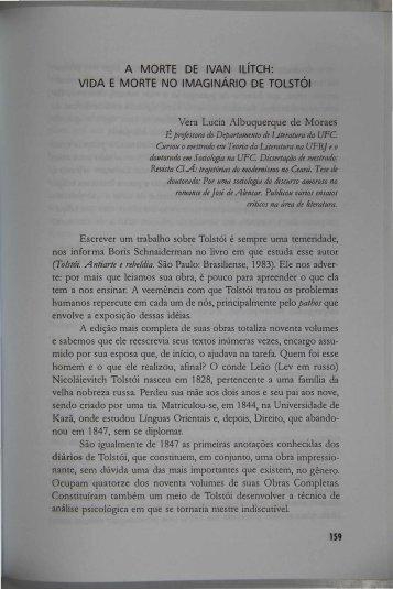 a morte de ivan ilítch - Portal da História do Ceará