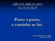 Êxodo - Mês da Bíblia