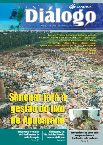 Sanepar fará a gestão do lixo de Apucarana Sanepar fará a gestão ...