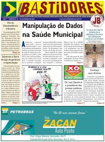 Edição Nº 7 - Jornal Bastidores
