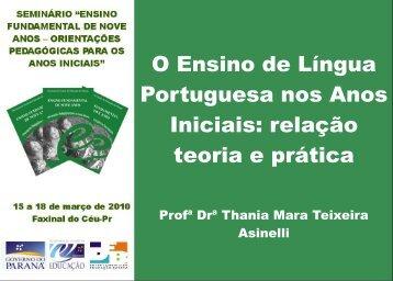 O Ensino de Língua Portuguesa nos Anos Iniciais: relação ... - NRE