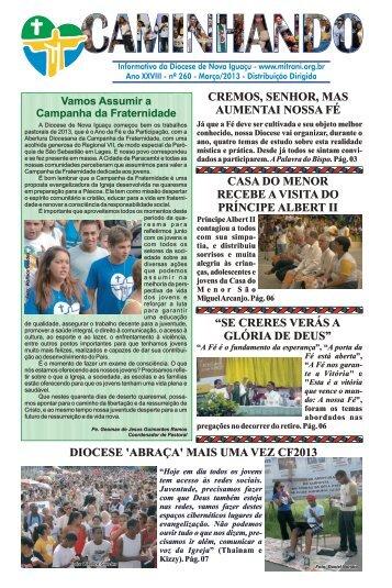 Jornal Caminhando 2013 Março - Diocese de Nova Iguaçu