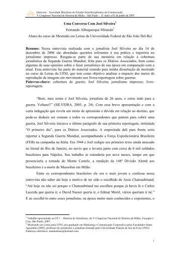 Uma Conversa Com Joel Silveira Fernando Albuquerque ... - ufrgs