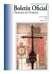 Boletín Oficial del Obispado de Ourense - Abril 2009 - Diocese de ...