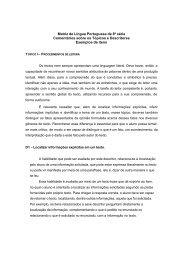 Matriz de Língua Portuguesa de 8ª série Comentários sobre ... - Inep