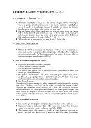 4. POBREZA E AS BEM AVENTURANÇAS (Mt. 5,3-12)