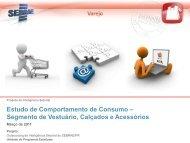 Estudo de Comportamento de Consumo – Segmento ... - Sebrae Pr.