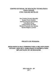 Moda masculina e feminina para a melhor idade - ETEc Paulino ...