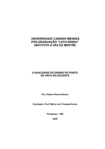 Delane Pereira Bueno - AVM Faculdade Integrada