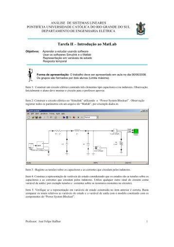 Tarefa II – Introdução ao MatLab