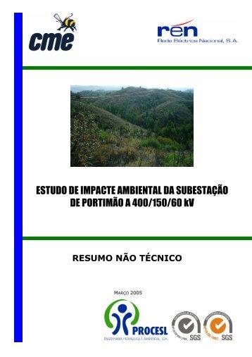 ESTUDO DE IMPACTE AMBIENTAL DA SUBESTAÇÃO DE ...
