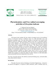 Phytochemistry and Free radical scavenging activities of ... - Ewijst.org