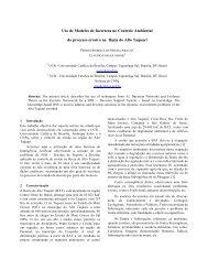 Uso de Modelos de Incerteza no Controle Ambiental do ... - GeoInfo