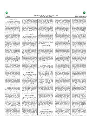 Diario Oficial de la República de Chile - Transparencia