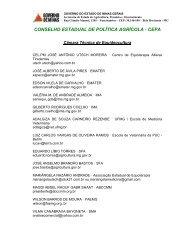 conselho estadual de política agrícola - cepa - Portal Conselhos MG ...
