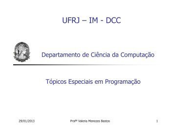 Programação em Shell - DCC - UFRJ