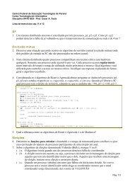 DF 1. Um sistema distribuído síncrono é constituído por três ... - DAINF