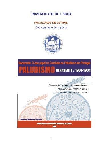 BENAVENTE :: 1931-1934 - Repositório da Universidade de Lisboa