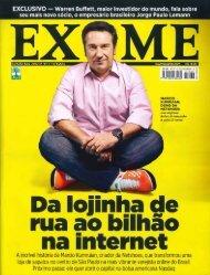 Revista Exame - Ter Bom Senso já Ajudaria - Siqueira Castro ...