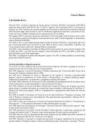 Valeria Maione Curriculum breve - Scienze Politiche - Università ...
