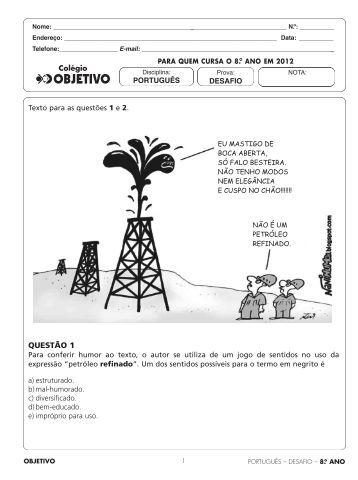 Português - Colégio OBJETIVO