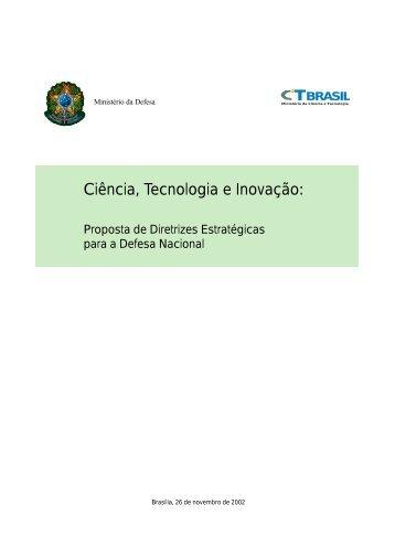 Proposta de Diretrizes Estratégicas de CT&I para a Defesa ... - CGEE