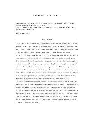 Thesis Valeria FINAL Version.pdf - ScholarsArchive at Oregon State ...
