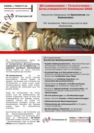 3D-LASERSCANNING – TOTALSTATIONEN - 3D Vermessungen AG