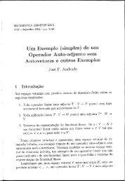 Um Exemplo (simples) de um - Revista Matemática Universitária