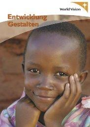 Entwicklung gestalten (PDF) - World Vision