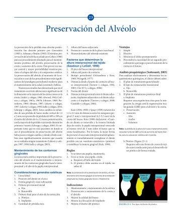 Preservación del Alvéolo - Axon
