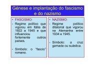 Génese e implantação do fascismo e do nazismo