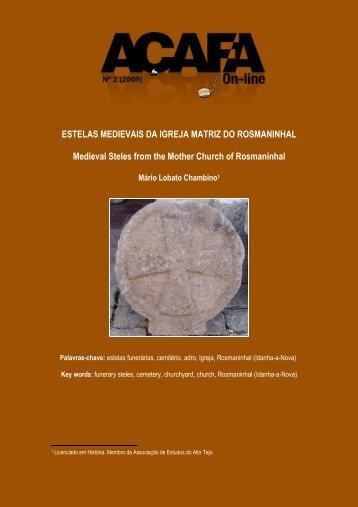 Estelas Medievais da Igreja Matriz do Rosmaninhal - Associação de ...