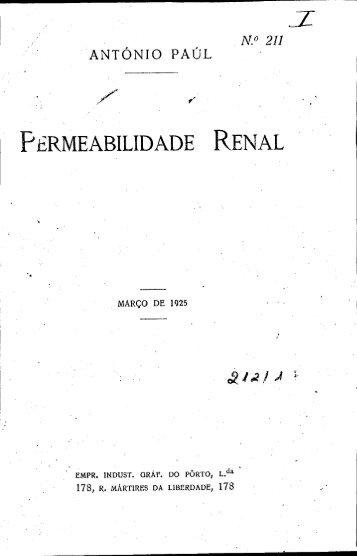 PERMEABILIDADE RENAL