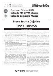 Prova Escrita Objetiva TIPO 1 – BRANCA - Concursos