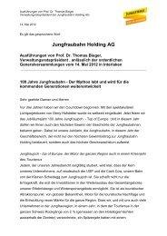Jungfraubahn Holding AG - Jungfrau.ch