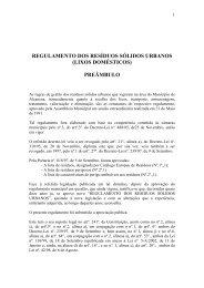 regulamento dos resíduos sólidos urbanos - Câmara Municipal de ...