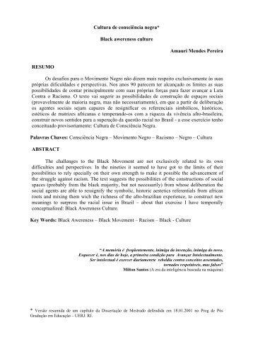 CULTURA DE CONSCINCIA NEGRA - Rizoma.ufsc.br