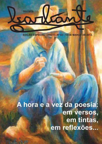 A hora e a vez da poesia: em versos, em tintas ... - Revista Barbante