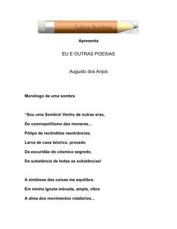 Eu e outras poesias - Augusto dos Anjos (em PDF) - Cultura Brasileira