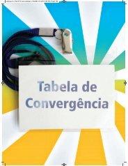 Tabela de convergência - Catálogo Nacional de Cursos Técnicos